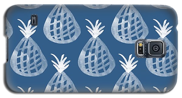 Watercolor Galaxy S5 Case - Indigo Pineapple Party by Linda Woods