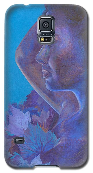 Galaxy S5 Case featuring the painting Indigo Serene by Ragen Mendenhall