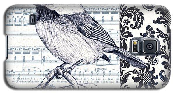 Indigo Vintage Songbird 2 Galaxy S5 Case by Debbie DeWitt