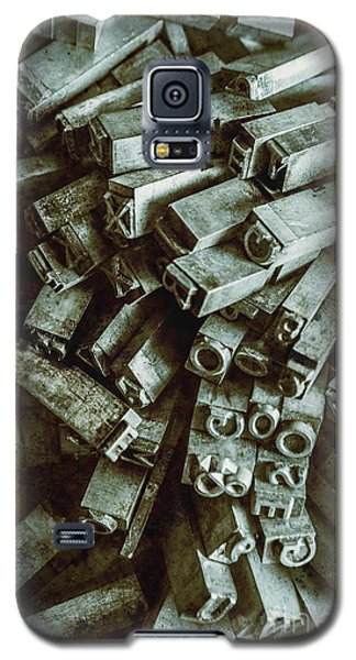 Industrial Letterpress Typeset  Galaxy S5 Case
