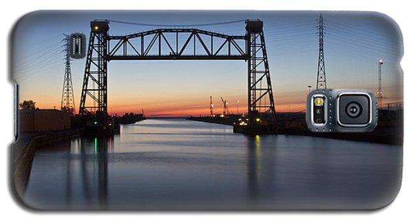 Industrial River Scene At Dawn Galaxy S5 Case