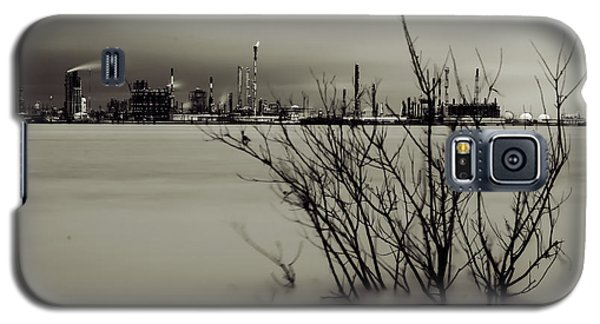 Industry On The Mississippi River, In Monochrome Galaxy S5 Case