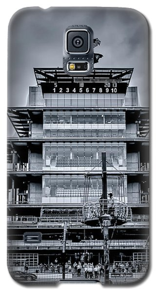 Indy 500 Pagoda - Black And White Galaxy S5 Case