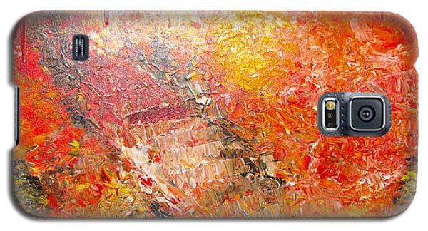 Galaxy S5 Case featuring the painting Inferno by Jacqueline Athmann