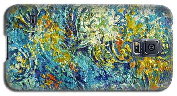 Galaxy S5 Case featuring the painting Inflorescence 2 by Elena Oleniuc