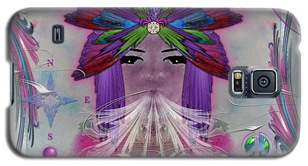Galaxy S5 Case featuring the digital art Inhaling Exhaling Peace by Barbara Tristan