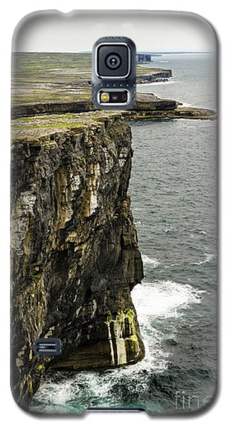 Galaxy S5 Case featuring the photograph Inishmore Cliffs And Karst Landscape From Dun Aengus by RicardMN Photography
