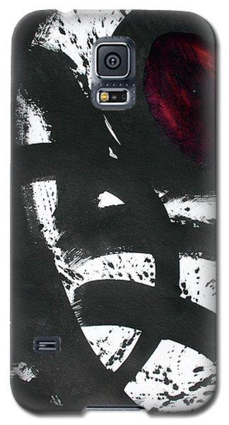 Ink On Paper Rose #2 Vertical Ink Landscape Original Fine Art Ink On Paper Galaxy S5 Case