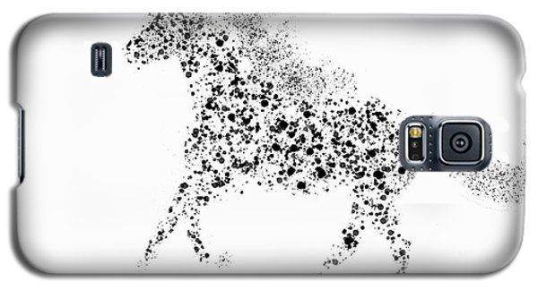 Galaxy S5 Case featuring the drawing Ink Splattered Stallion by Nick Gustafson