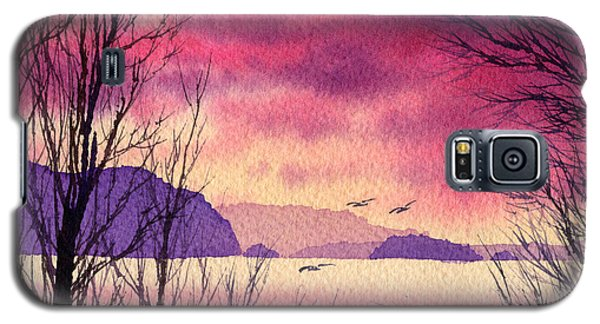 Galaxy S5 Case featuring the painting Inland Sea Islands by James Williamson