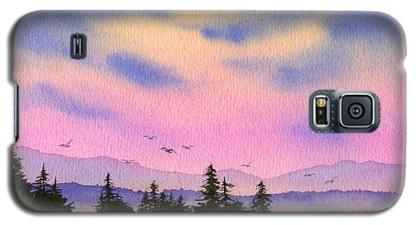 Galaxy S5 Case featuring the painting Inland Sea Sunset by James Williamson