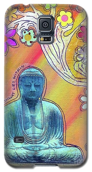 Galaxy S5 Case featuring the mixed media Inner Bliss by Desiree Paquette