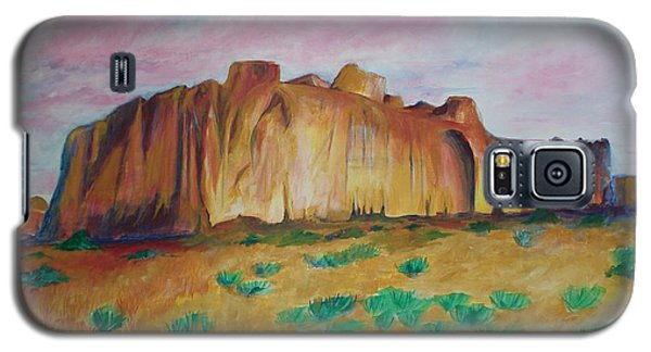 Galaxy S5 Case featuring the painting Inscription Rock  by Eric  Schiabor