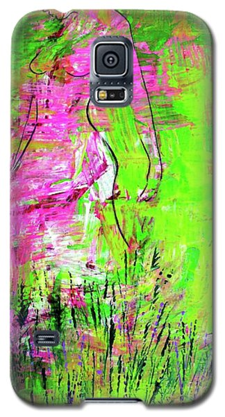 Galaxy S5 Case featuring the painting Inside And Out by Julie Hoyle