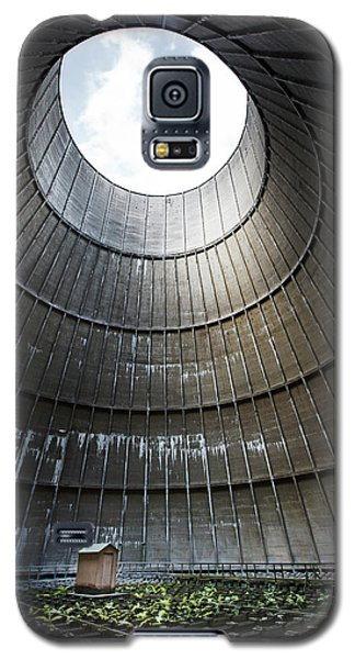 Galaxy S5 Case featuring the photograph Inside Industrial Cooling Tower Stands A Mysterous Little House by Dirk Ercken