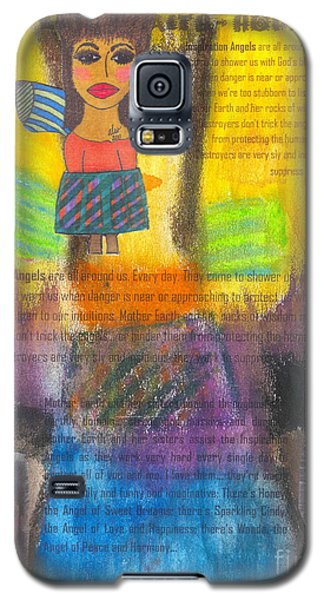 Galaxy S5 Case featuring the mixed media Inspiration Angels by Angela L Walker