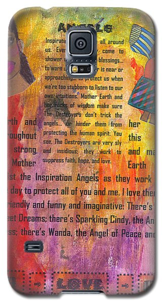 Galaxy S5 Case featuring the mixed media Inspiration Angels II by Angela L Walker