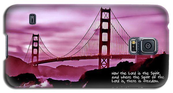 Inspirational - Nightfall At The Golden Gate Galaxy S5 Case