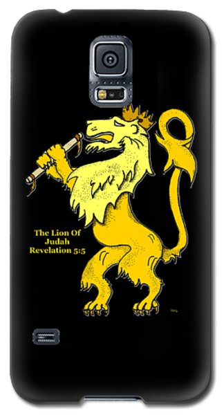 Galaxy S5 Case featuring the drawing Inspirational - The Lion Of Judah by Glenn McCarthy Art and Photography