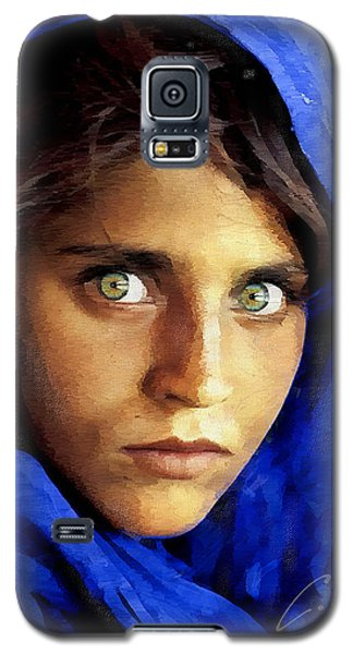 Inspired By Steve Mccurry's Afghan Girl Galaxy S5 Case