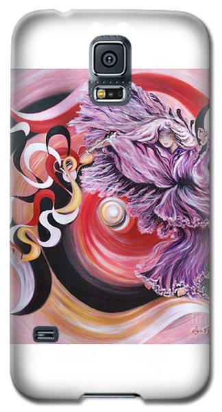 Galaxy S5 Case featuring the painting Integrated Force by Sigrid Tune
