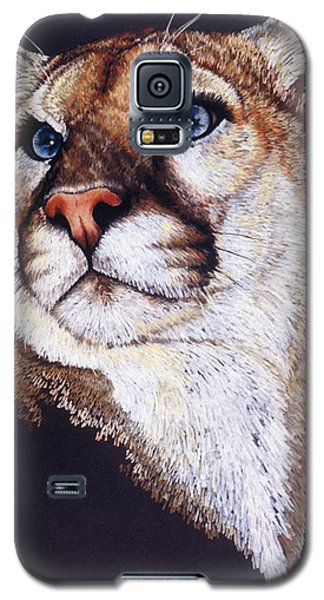 Galaxy S5 Case featuring the drawing Intense by Barbara Keith