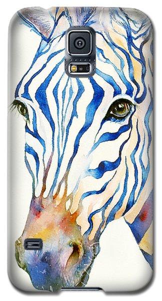 Intense Blue Zebra Galaxy S5 Case by Arti Chauhan