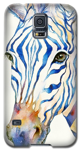 Intense Blue Zebra Galaxy S5 Case