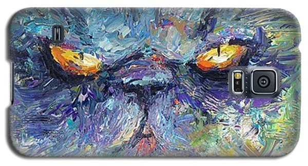 Galaxy S5 Case - Intense Palette Knife  Persian Cat by Svetlana Novikova