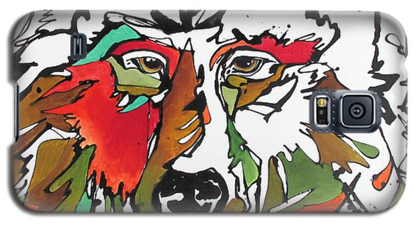 Galaxy S5 Case featuring the painting Intent by Nicole Gaitan