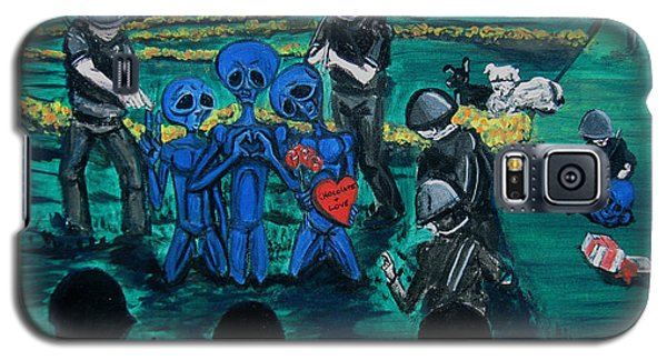 Galaxy S5 Case featuring the painting Intergalactic Misunderstanding by Similar Alien