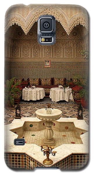 Interior Of A Traditional Riad In Fez Galaxy S5 Case by Ralph A  Ledergerber-Photography