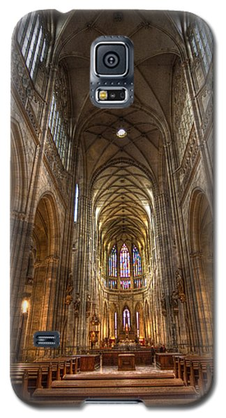 Galaxy S5 Case featuring the photograph Interior Of Saint Vitus Cathedral by Gabor Pozsgai