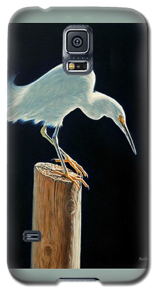 Interlude - Snowy Egret Galaxy S5 Case