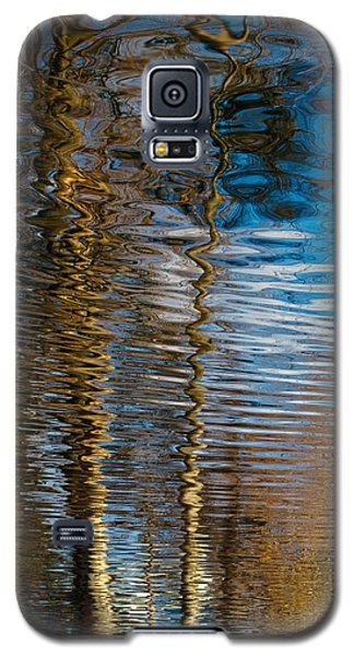 Galaxy S5 Case featuring the photograph Into Chaos Blue by Tom Vaughan