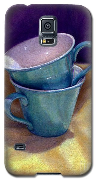 Galaxy S5 Case featuring the painting Into Cups by Jane Bucci
