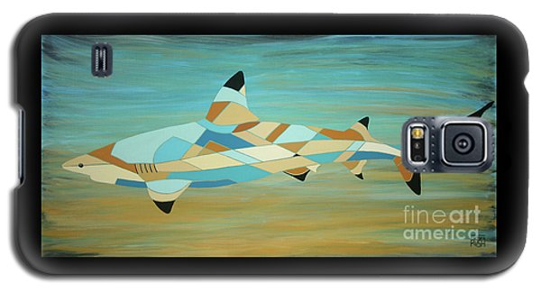 Into The Blue I Shark Painting Galaxy S5 Case
