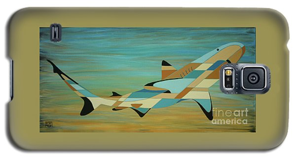 Into The Blue Shark Painting Galaxy S5 Case