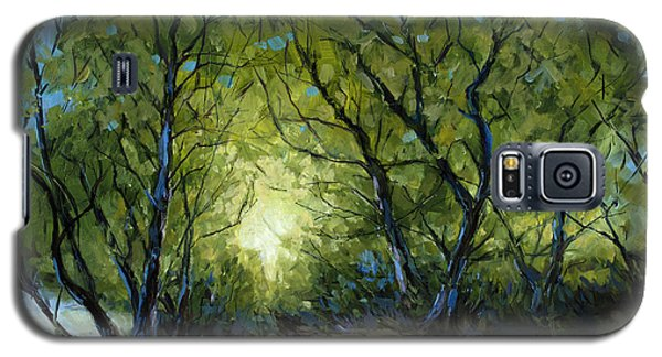 Galaxy S5 Case featuring the painting Into The Light by Billie Colson