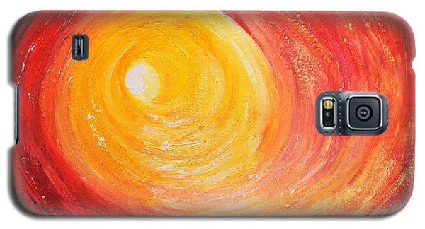 Galaxy S5 Case featuring the painting Into The Light by Teresa Wegrzyn