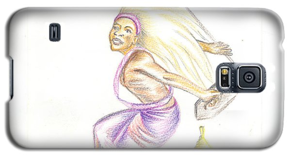 Galaxy S5 Case featuring the painting Intore Dance 2 From Rwanda by Emmanuel Baliyanga