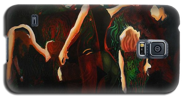 Galaxy S5 Case featuring the painting Intricate Moves by Georg Douglas
