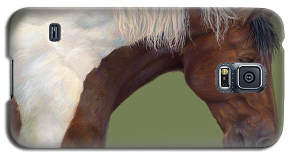 White Horse Galaxy S5 Case - Intrigued by Lucie Bilodeau