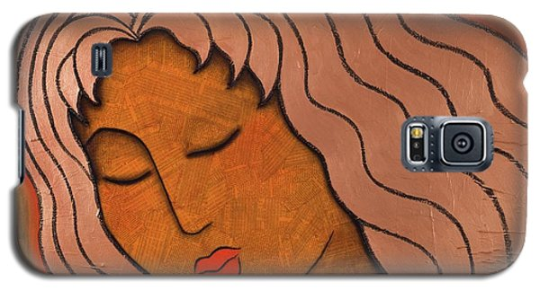 Galaxy S5 Case featuring the mixed media Intuitive Listening by Gloria Rothrock
