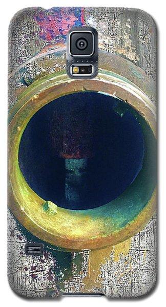 Galaxy S5 Case featuring the mixed media Inturupted by Tony Rubino