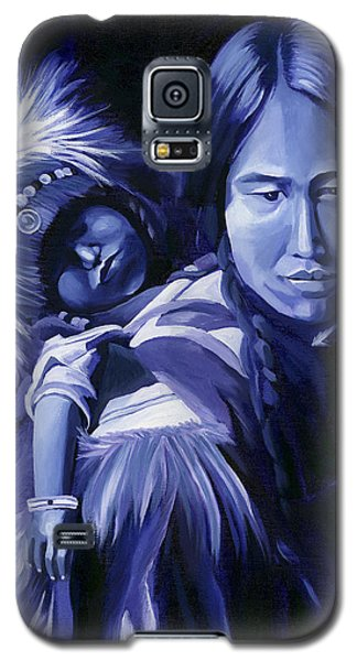 Galaxy S5 Case featuring the painting Inuit Mother And Child by Nancy Griswold