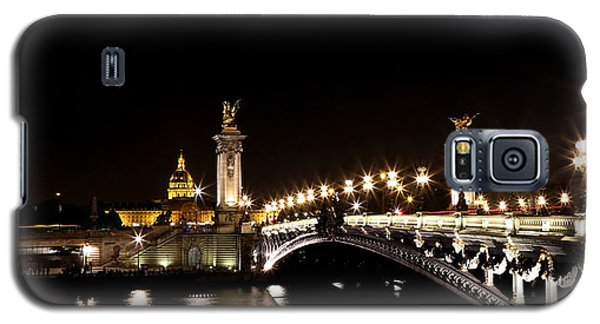 Galaxy S5 Case featuring the photograph Invalides At Night 1 by Andrew Fare