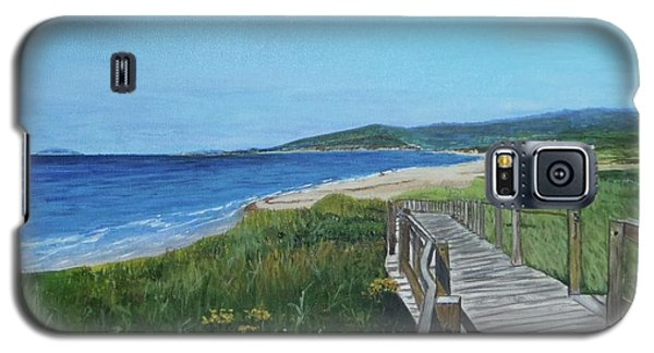 Galaxy S5 Case featuring the painting Inverness Beach by Betty-Anne McDonald
