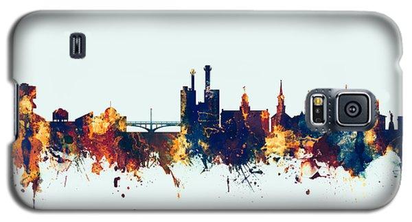 Galaxy S5 Case featuring the digital art Iowa City Iowa Skyline by Michael Tompsett