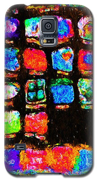 Iphone In Abstract Galaxy S5 Case